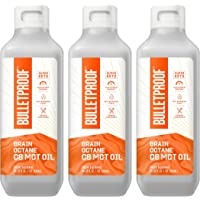 Brain Octane Premium C8 MCT Oil from Non-GMO Coconuts, 14g MCTs, 3 Pack 32 Fl Oz, Bulletproof Keto Supplement for…