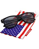 grinderPUNCH American Flag Sunglasses Classic USA Large Adult Size UV400