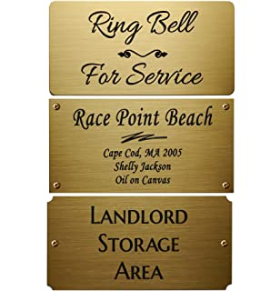 amazon com 2 h x 4 w solid brass satin name plates