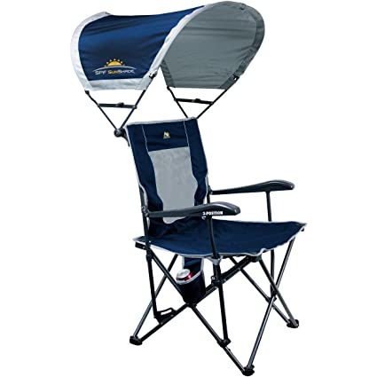 Peachy Gci Outdoor 3 Position Quad Reclining Camp Chair With Sunshade Spiritservingveterans Wood Chair Design Ideas Spiritservingveteransorg