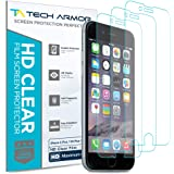 Tech Armor High Definition HD-Clear Film Screen Protector (Not Glass) for Apple iPhone 6 Plus / 6S Plus (5.5-inch) [3…