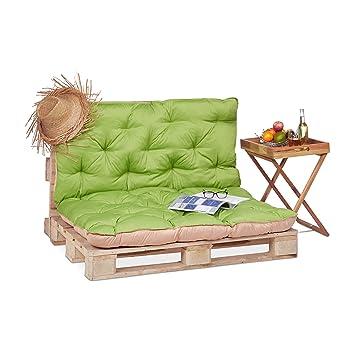 Relaxdays Coussin Pour Palette Euro Bois Coussin Jardin Meuble Banc