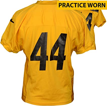 7b04034c787 Amazon.com  Pittsburgh Steelers  44 Practice Worn Yellow Jersey from 2014  Season - Fanatics Authentic Certified - NFL Game Used Jerseys  Sports  Collectibles
