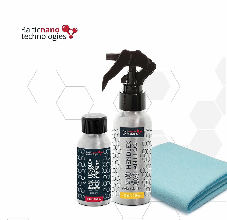 Rivestimento Nano anti Fog spray e vetro preparare Hendlex   auto parabrezza finestra antifog kit di protezione Baltic Nano Technologies