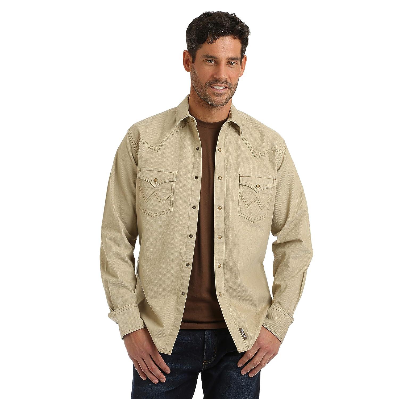 WRANGLER Vintage Men/'s Snap Button Down Shirt