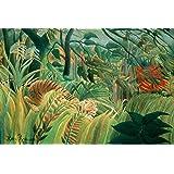 Henri Rousseau: Tiger in a Tropical Storm. Fine Art Print/Poster. Size A1