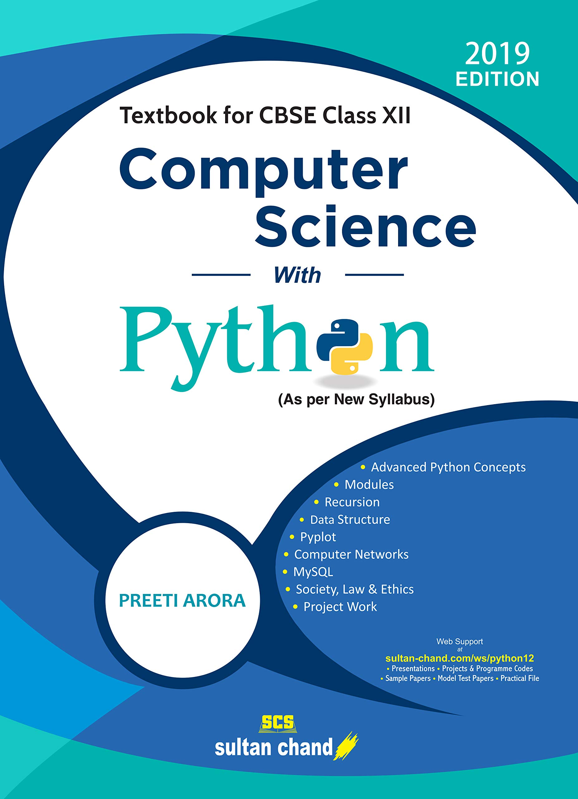 Computer Science with Python: Textbook for CBSE Class 12 Paperback – 28 Feb  2019