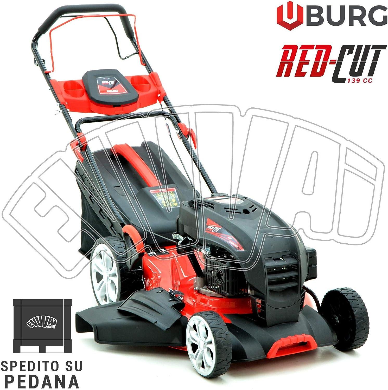 RED-CUT - Cortacésped con motor de gasolina 139 cc. Cortacésped cortacésped Burg