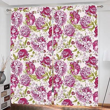 Amazon.com: househome Flowers Custom design Floral Theme Vintage ...