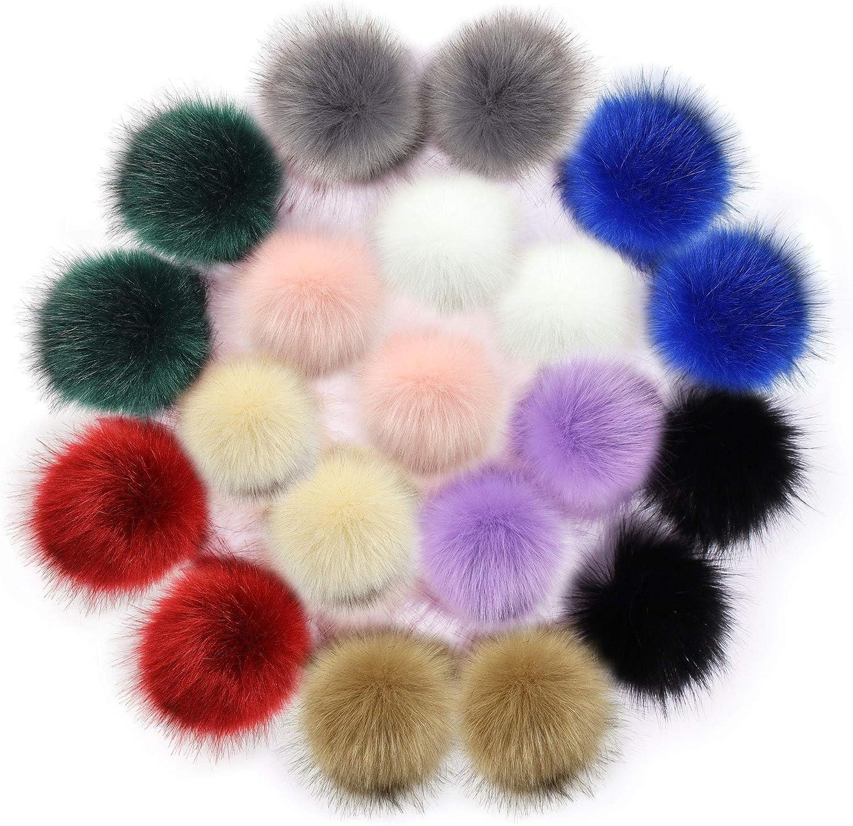 16 Wholesale lot Mink Fur Ball Black/&White pom pom