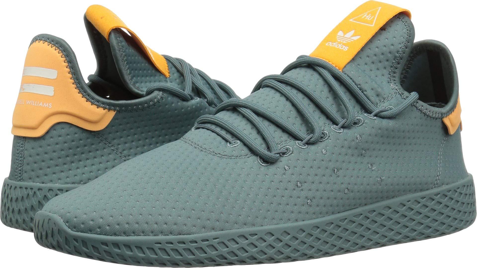 df5a77413b8 adidas Originals Men s Pharrell Williams Tennis HU Running Shoe raw Green Off  White