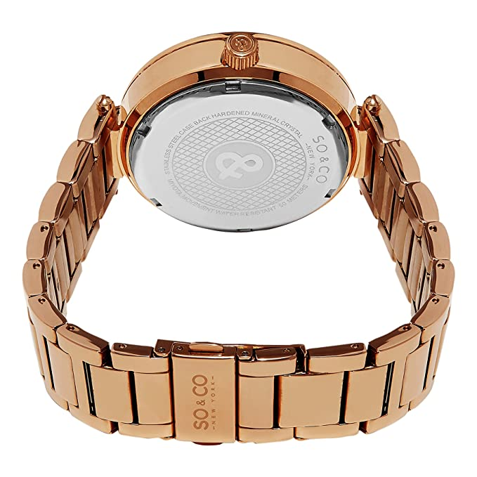 Amazon.com: SO & CO New York Womens 5234.3 Stainless Steel Watch: SO & CO: Watches