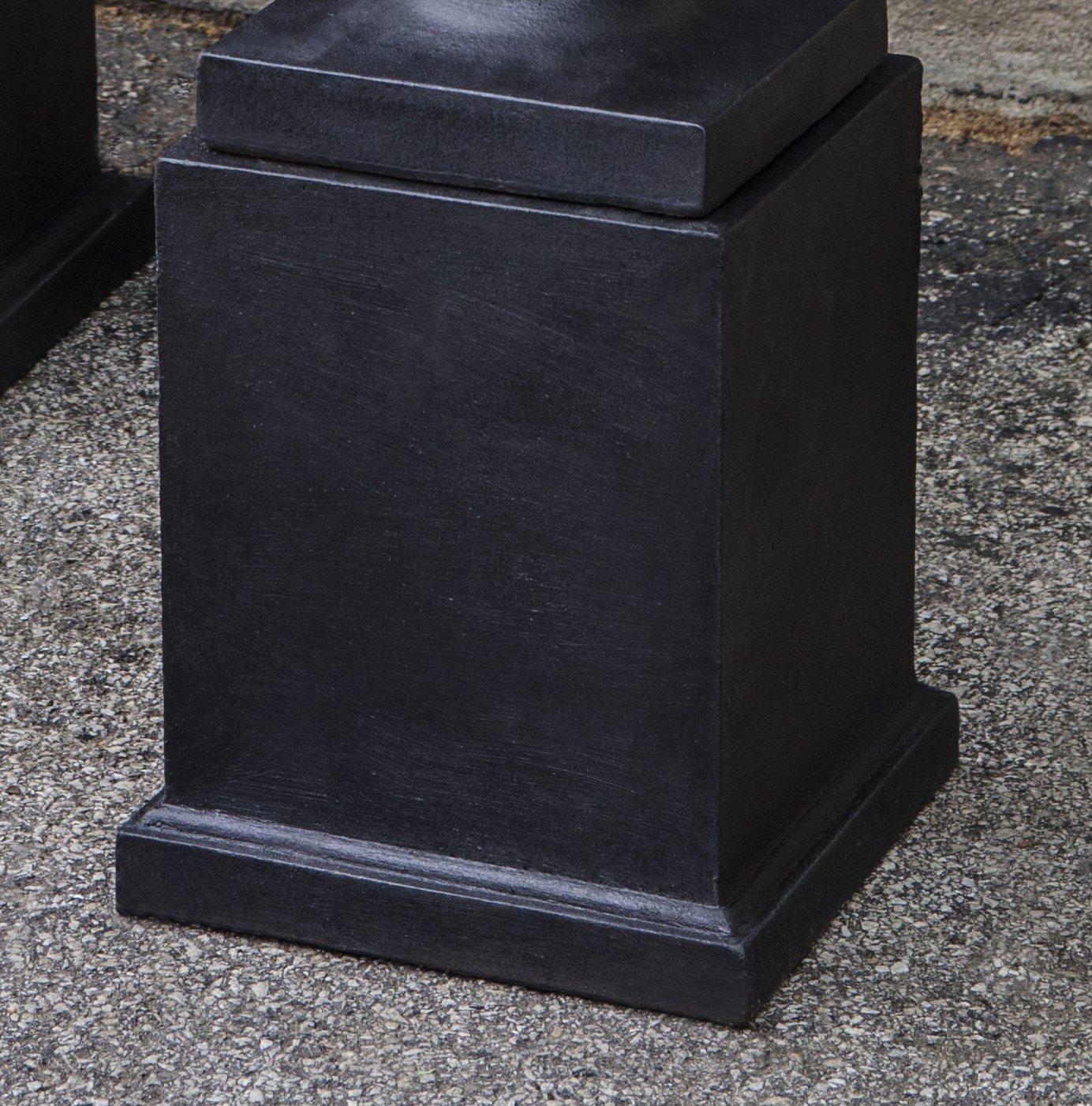 Campania International PD-207-TN Mini Pedestal, Low, Terra Nera Finish