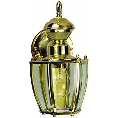 Heath Zenith HZ-4170-PB Motion Activated Decorative Light, 120 Vac, 100 W, 60 Hz, 30 Ft, 150 Deg, Polished Brass - Electronic Component Foot Switches - .com