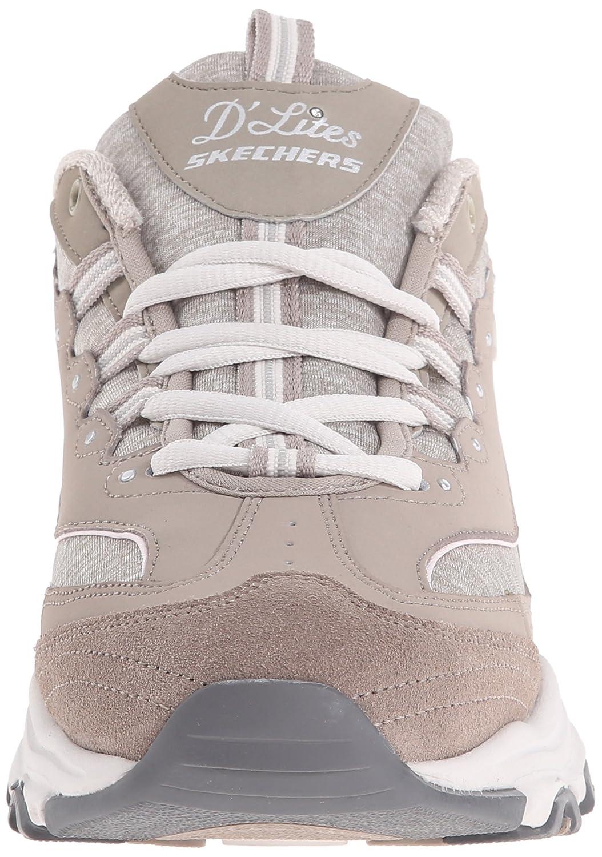 2af100287ad Skechers Zapatillas con cordones de espuma viscoelástica D Lites para mujer  Gris pardo