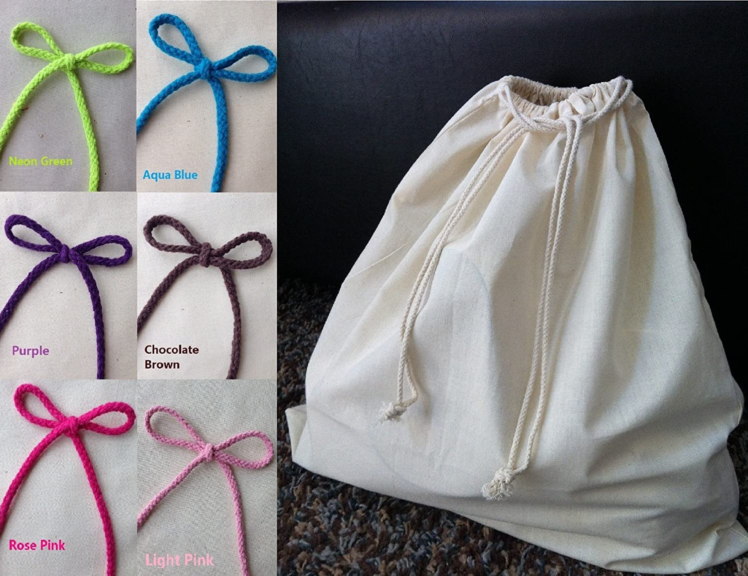 c9a6d066c2a2 Amazon.com  Durable Cotton Canvas Dust Bag for Handbags or Shoes ...