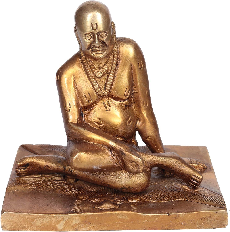 Exotic India Shri Swami Sivananda-Brass Home Décor Statue