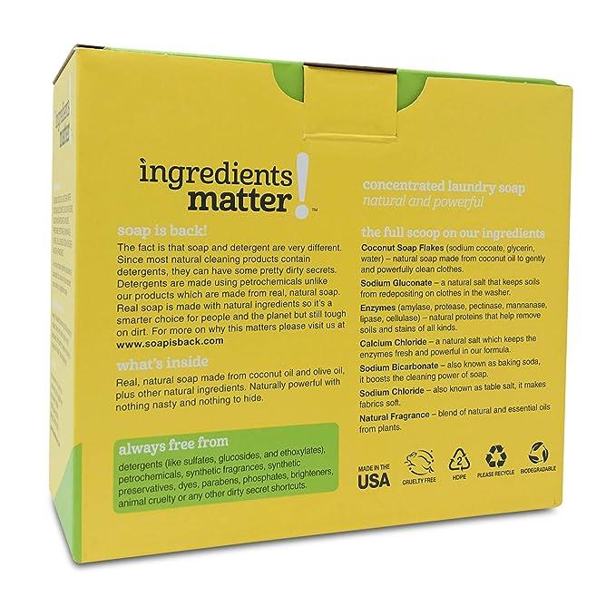 Ingredientes Matter jabón en polvo para lavandería, 36 oz peso ...