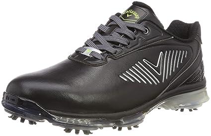 60d922e8db5732 Callaway Golf 2018 Mens X Series XFER Nitro Spiked Golf Shoes Black 9.5UK