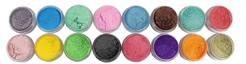 Soap Dye Mica Powder Pigments for Bath Bombs Soap Making Colorant Set,16 Colors Boashna