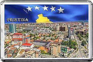 PRISTINA FRIDGE MAGNET 002 THE CITY OF KOSOVO REFRIGERATOR MAGNET