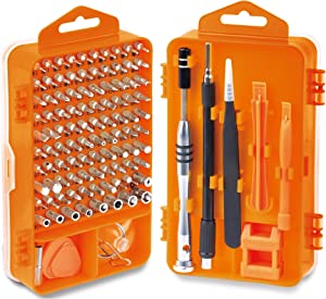 HORUSDY Precision Screwdriver Set with Phillips, More& Torx Bits, Non-Slip Magnetic Electronics Tool Kit