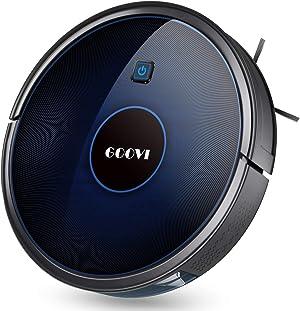 GOOVI D380 Robot Vacuum, Self-Charging Robotic Vacuum Cleaner(Slim), Quiet, Multiple Cleaning Modes, 1600Pa Robot Vacuum Cleaner, Strong Suction, for Pet Hair, Hard Floors to Medium-Pile Carpets