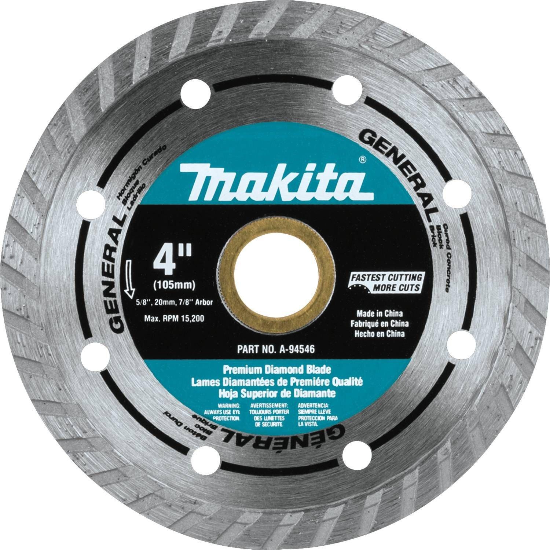 Makita A 94546 4 Inch Turbo Rim Diamond Masonry Blade Angle