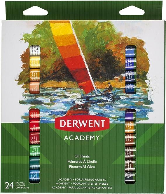 DERWENT 98224 - Pack de 24 tubos pintura óleo de 12ml: Amazon.es: Oficina y papelería