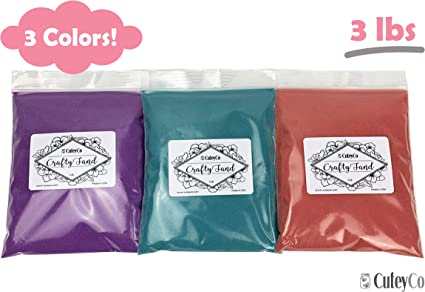 CuteyCo Crafty Sand for Kids 3 lbs of Vibrant Craft Sand /& Play Sand 10 Colors
