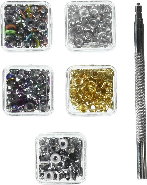 Darice 240-Piece Eyelet Starter Kit 1//8-Inch