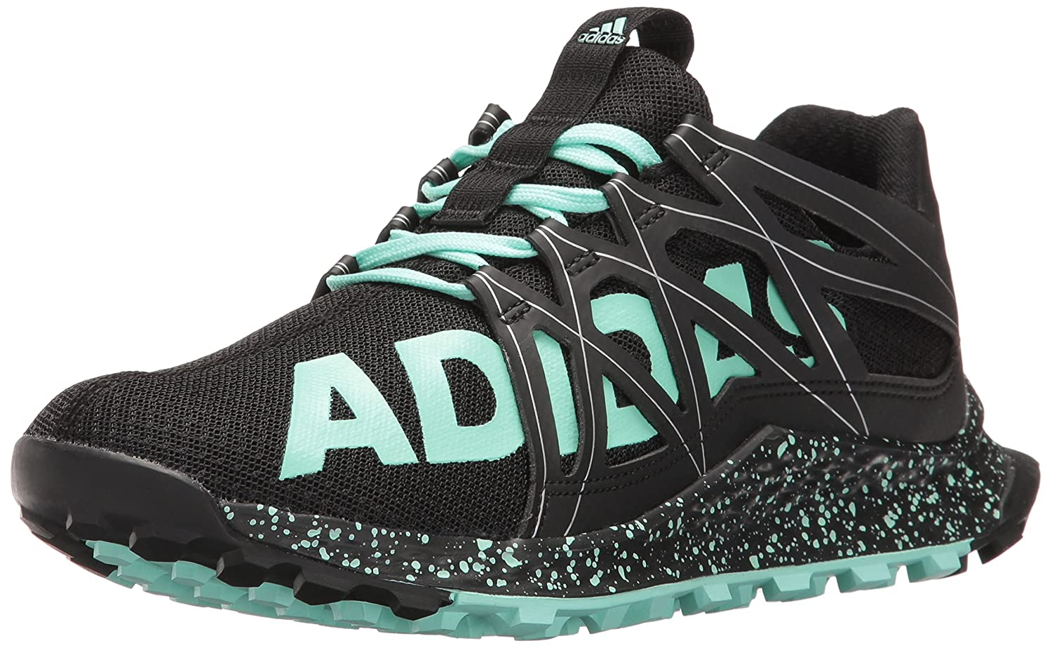 adidas Women's Vigor Bounce W Trail Runner B01H7YC8B0 8.5 B(M) US|Black/Easy Green/White