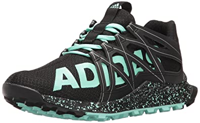 adidas Originals Women's Vigor Bounce w Tennis Shoe, Black/Easy Green/White,