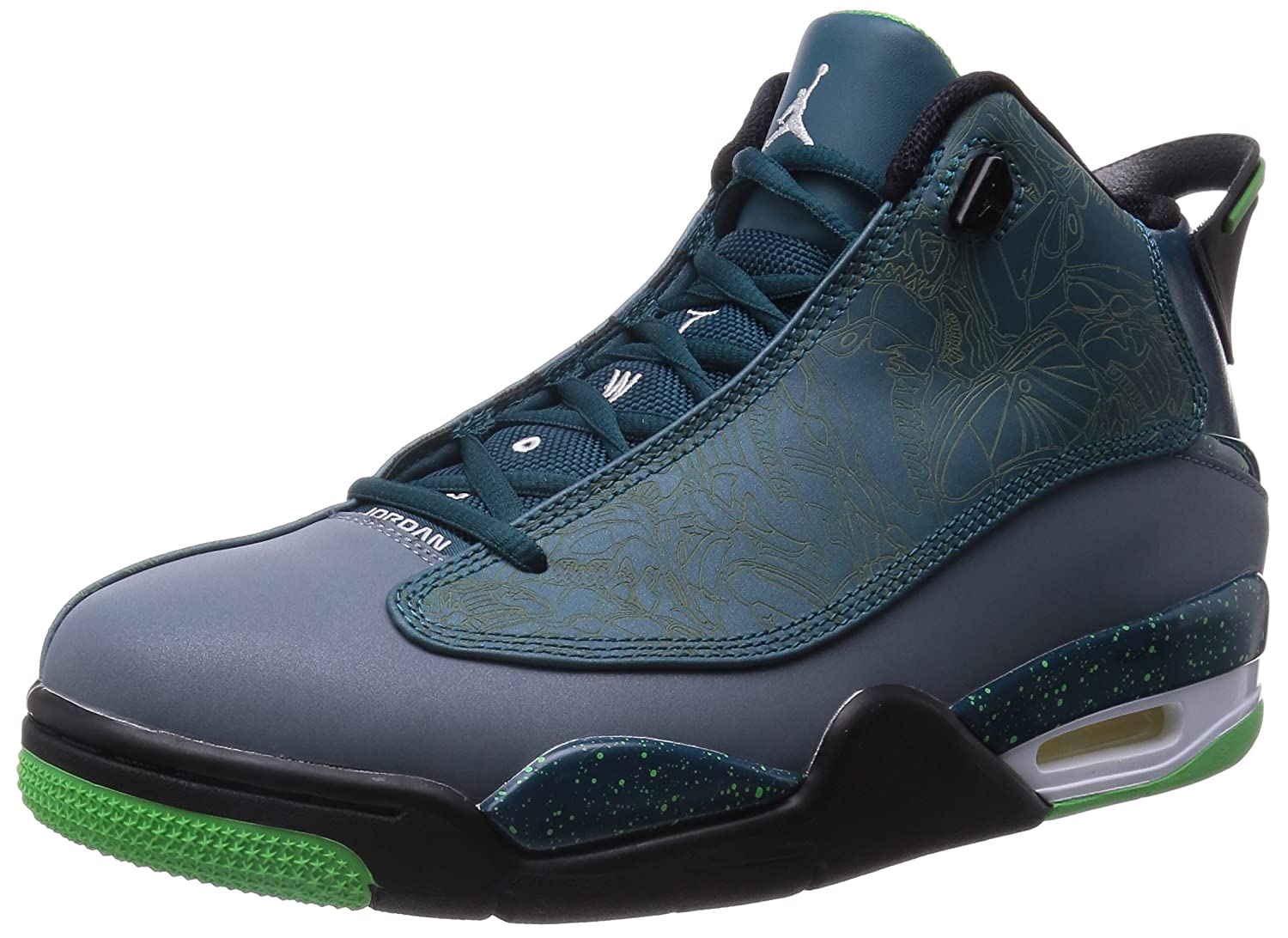 check out 13f8c 73972 well-wreapped Jordan Air Jordan Dub Zero Men Round Toe Synthetic Green  Basketball Shoe