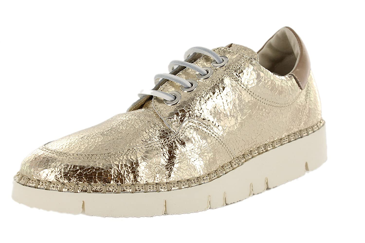 Mally Turnschuhe Damen Cesi Cesi Cesi Gold metallic Leder fb21e0