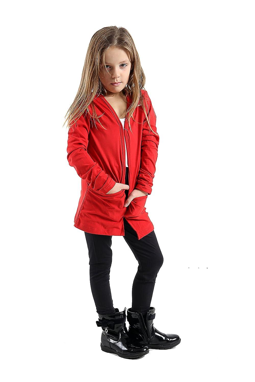 Girls Kids Boyfriend Cardigans 45% Cotton Children's T-Shirts Shirt Uniform Open Cardigan N with Pockets Tops School Fashion Tops Shrug 5TO 13