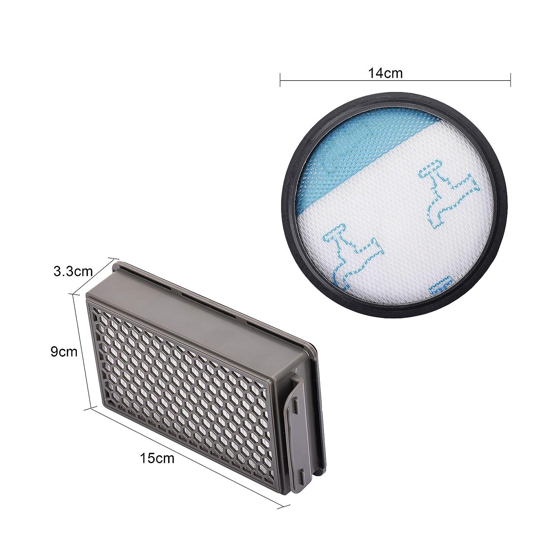 YTT 1x aspirapolvere filtro HEPA e 1x filtro spugna per Philips FC8760 FC8761 FC8764 FC8766 FC8767 aspirapolvere