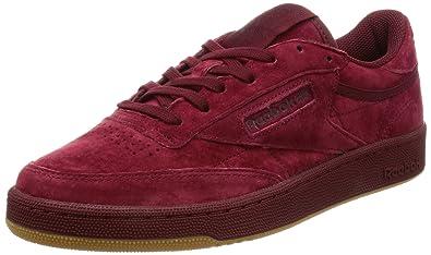 Reebok Club C 85 Tg, Sneakers Basses Homme, Rouge (Cllgt Burgundy Dark Red