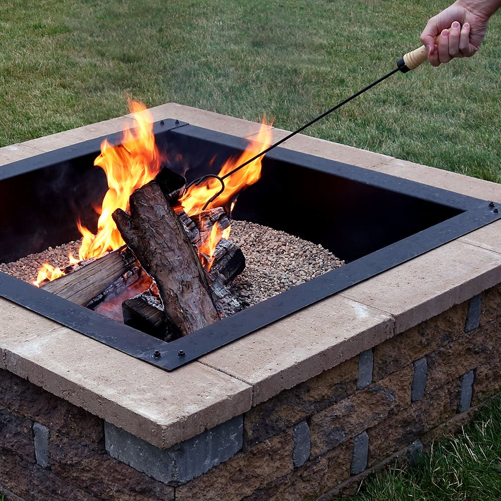 Outdoor Camping Fireplace Tool 26 Inch Long Sunnydaze Steel Fire Pit Poker Stick with Wood Handle