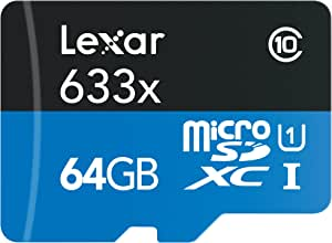 Lexar High-Performance 633X 64GB MicroSDXC UHS-I Card