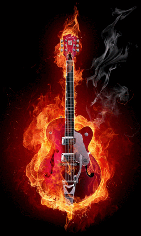 Amazon Com Fire Guitar Live Wallpaper Appstore For Android