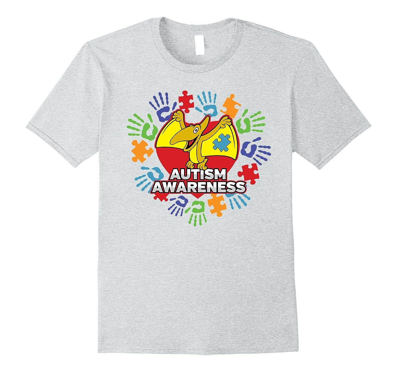 Autism Awareness Yellow Dinosaur Pterodactyl T-shirt