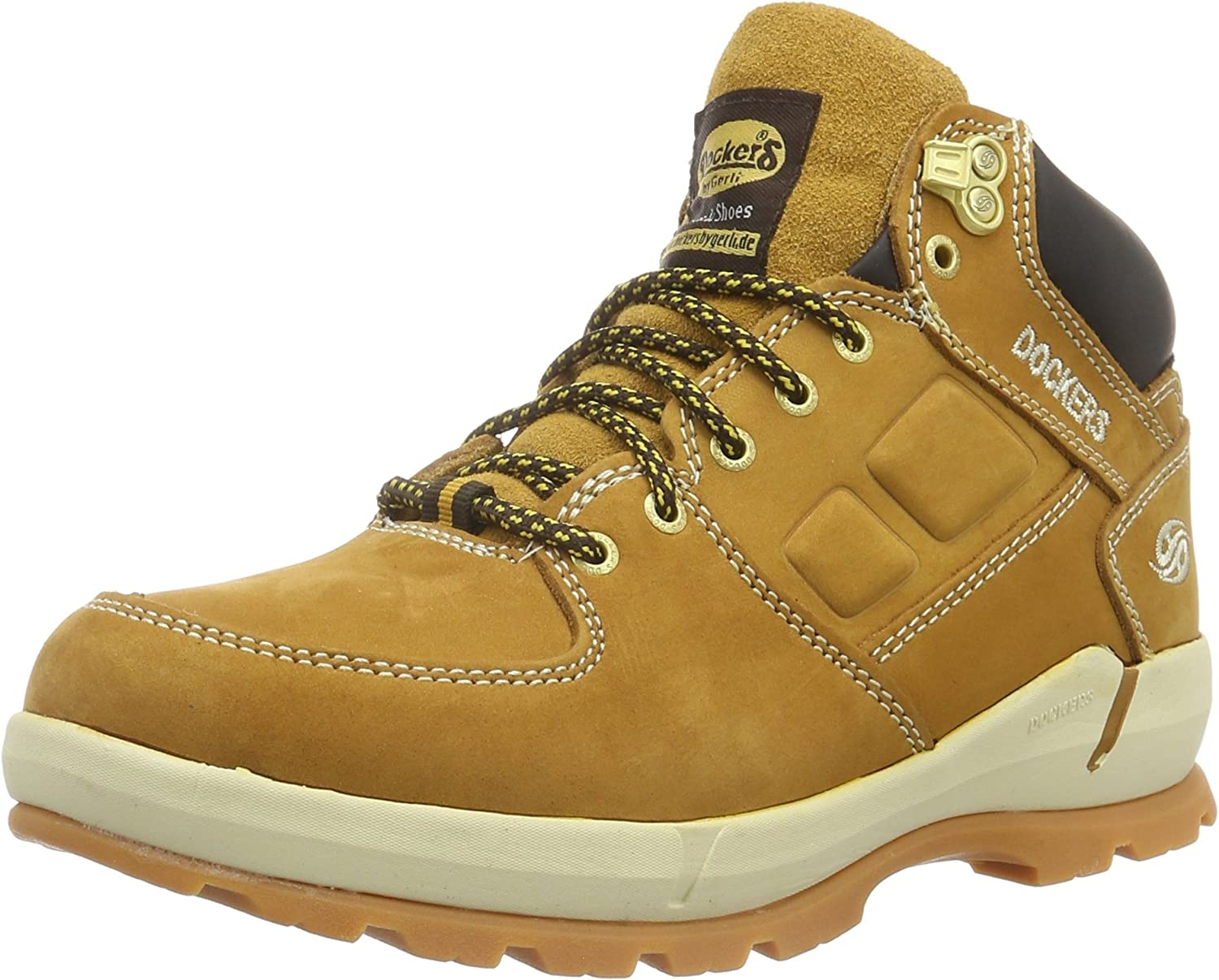 Dockers 39or003, Botines para Hombre, Amarillo (Golden Tan 910), 42 EU