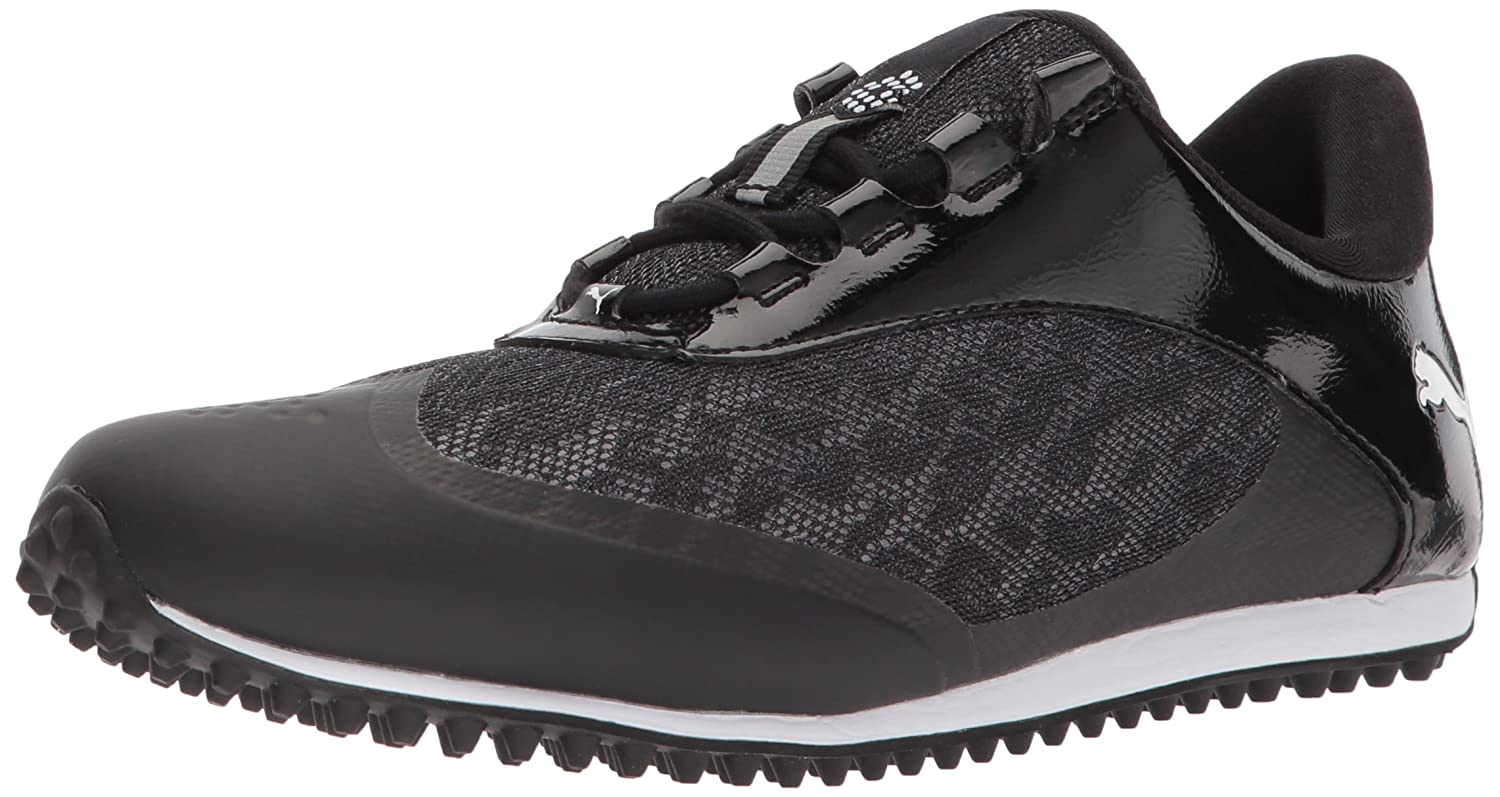 PUMA Women's Summercat Sport Golf Shoe B074ZJLJ67 12 B(M) US|Black/White