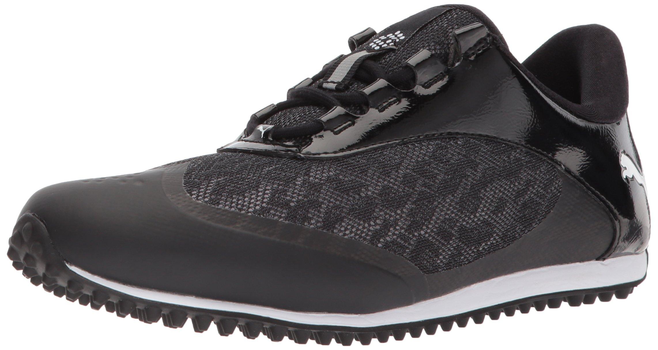 PUMA Golf Women's Summercat Sport Golf Shoe, Black/White, 8 Medium US