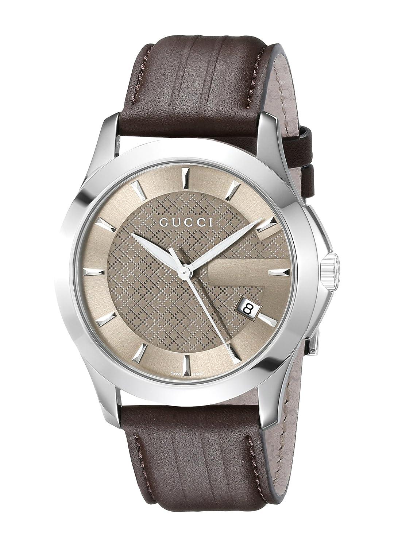 "Gucci Herren YA126403 ""g-timeless"" Braun Zifferblatt braun ..."