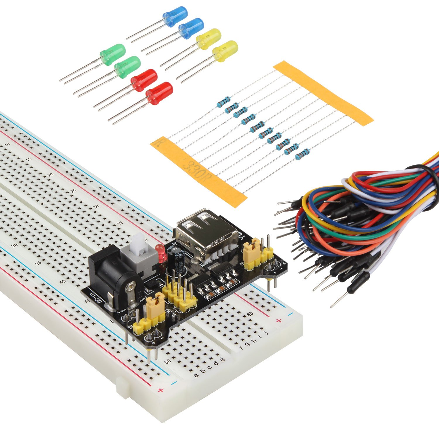 Smraza 33v 5v Power Supply Module For Arduino 830 Tie Breadboards Electronics Images Points Solderless Breadboard 65pcs Jumper Wire Uno Mega2560 Computers