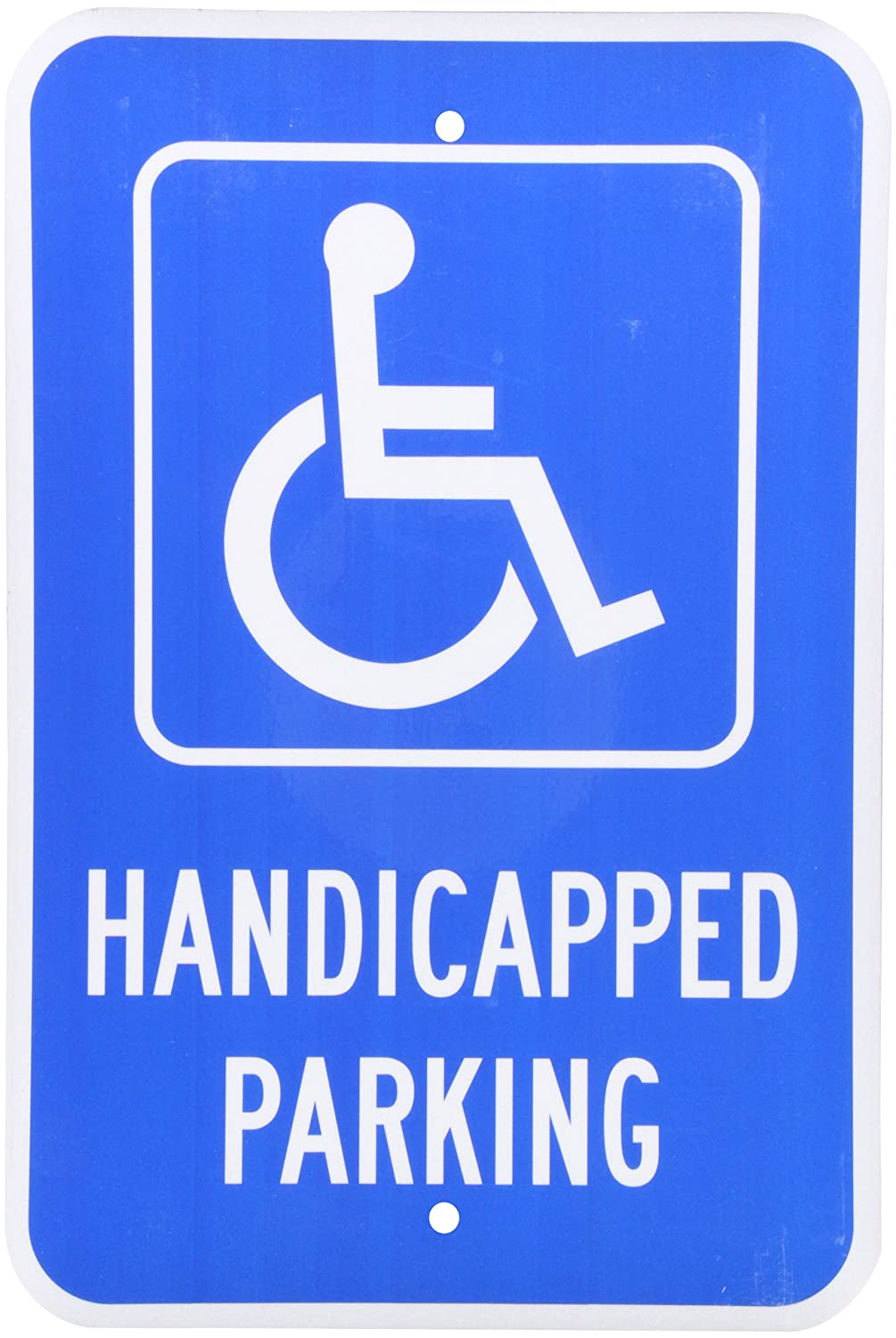 SmartSign 3M Engineer Grade Reflective Sign, LegendHandicapped Parking with Graphic, 18 high x 12 wide, White on Blue Lyle Signs K-1519-EG-12x18-D2