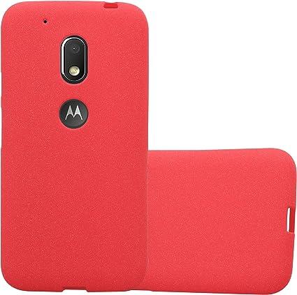 Cadorabo Funda para Motorola Moto G4 Play en Frost Rojo: Amazon.es ...