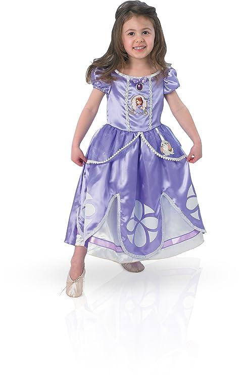 Princesas Disney Disfraz De Princesa Sofía Para Niña Infantil 3 4 Años Rubies 154980 S